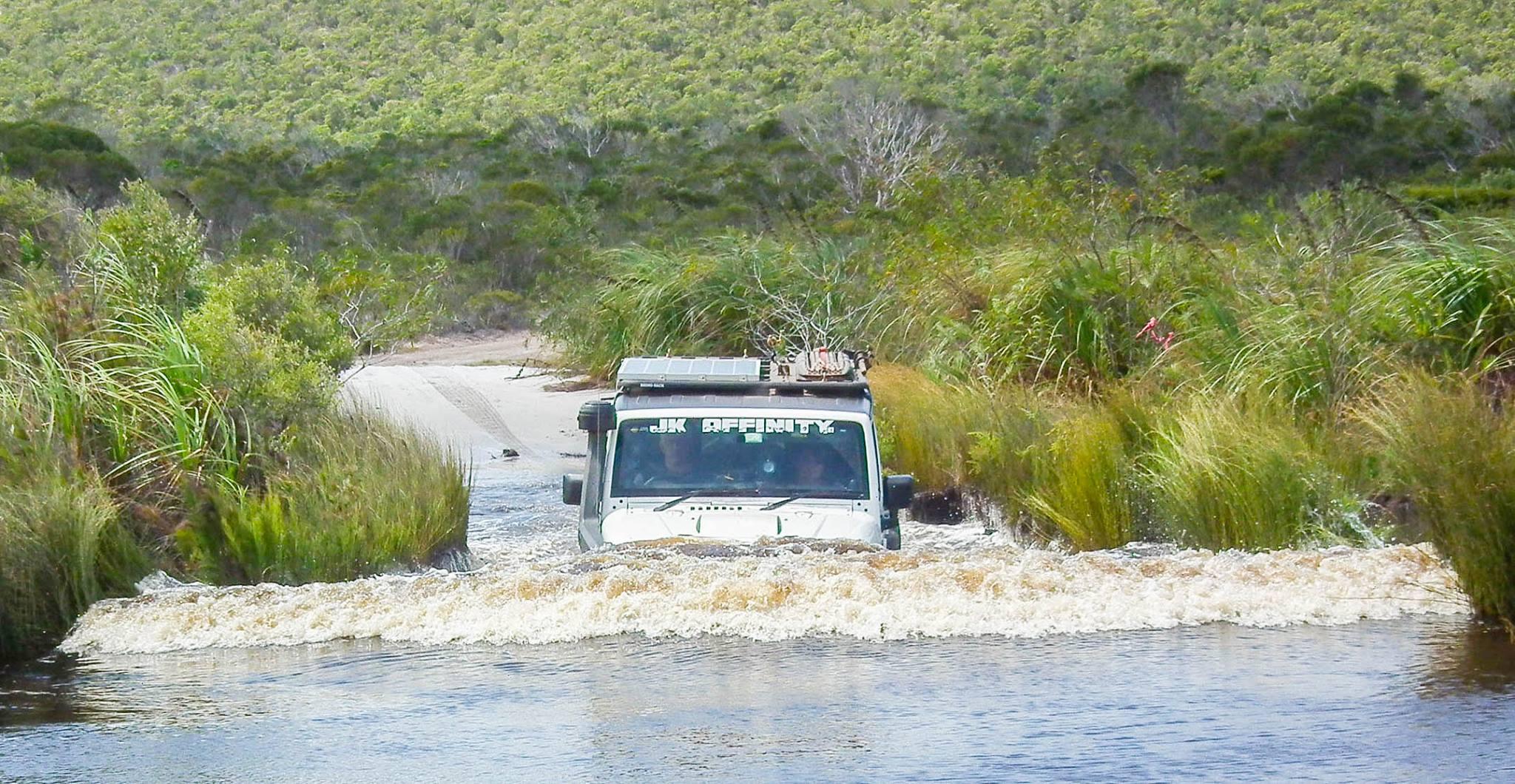 Wasserüberquerung