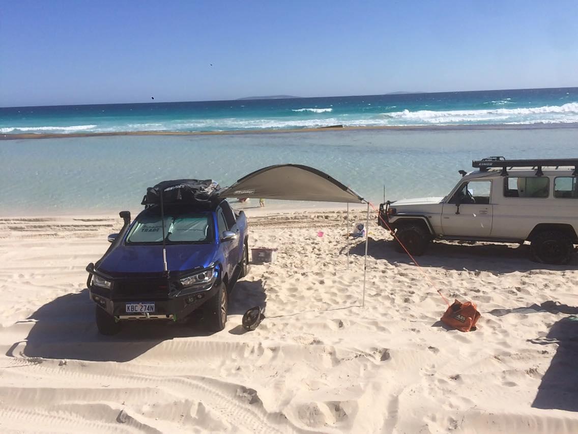 Arial beach shot