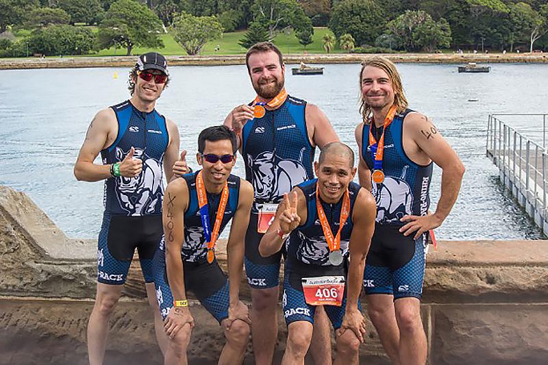 rhino rack, sydney triathlon, triathlon, sydney, team photo