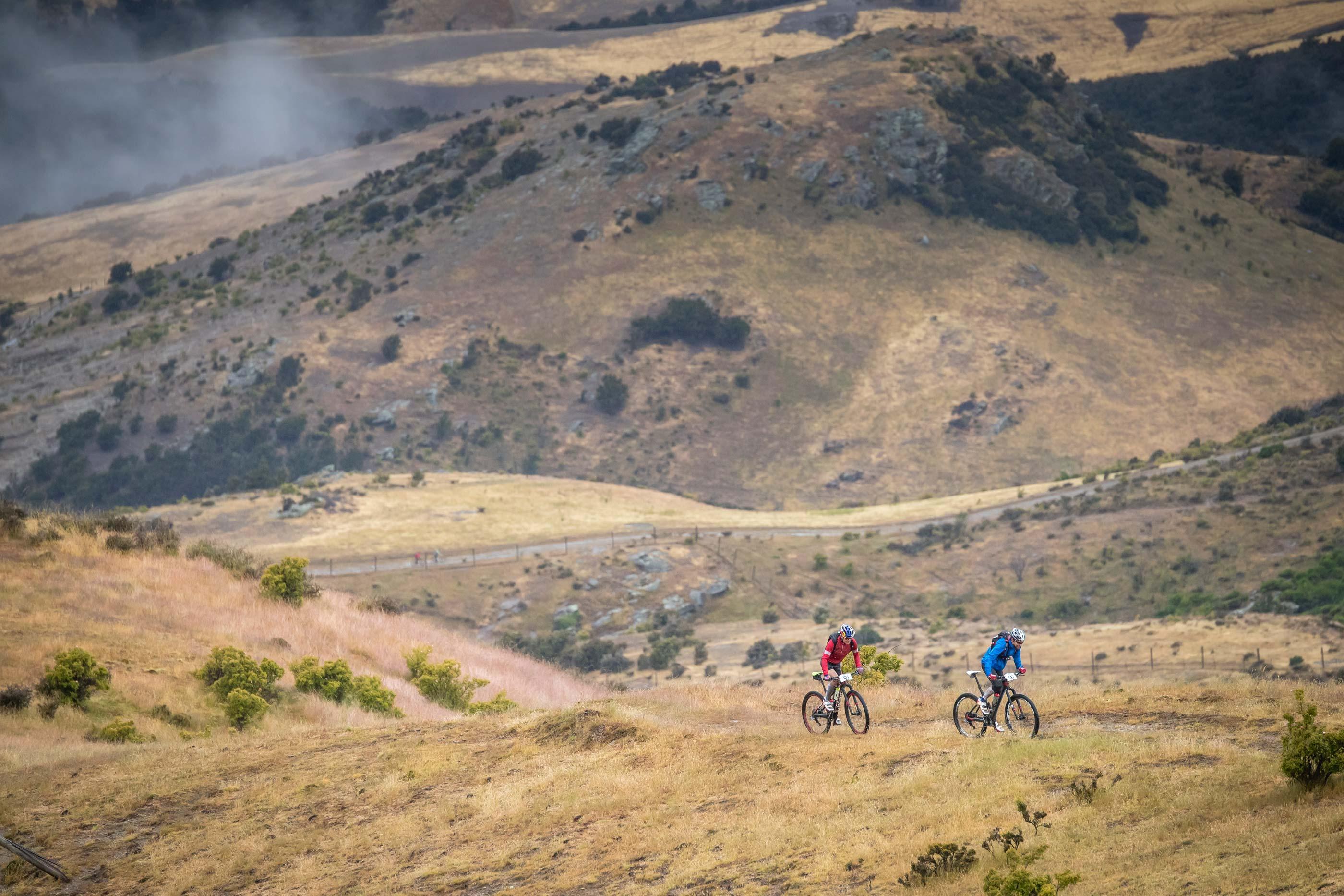 Alpine mountain bike ride