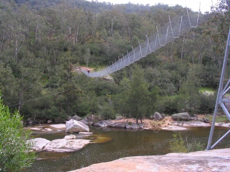 Bowtells Swing Bridge over Coxs River