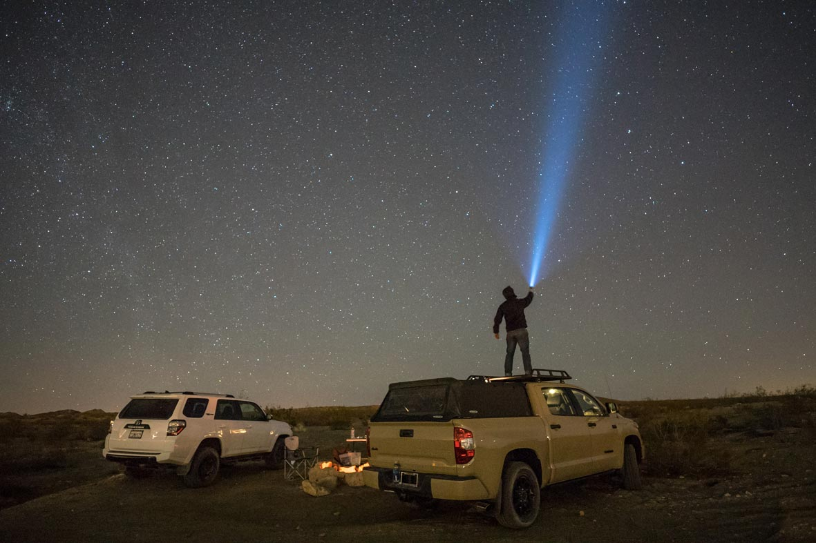 star gazing on the pioneer
