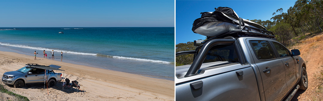 (left) Beach Landscape (right) packed tradie