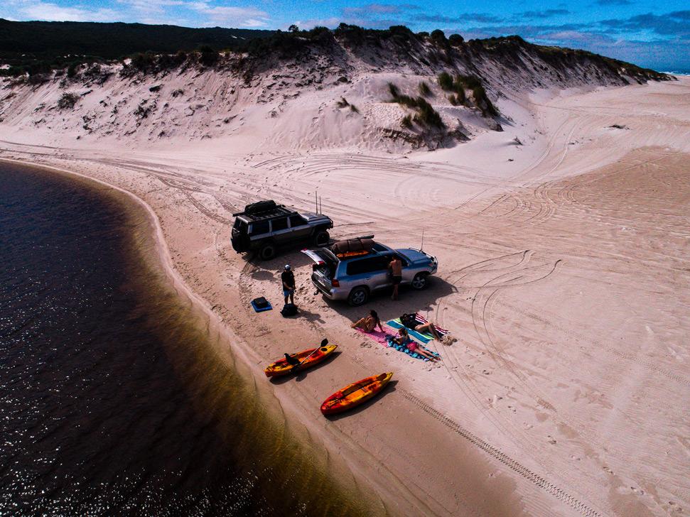 Blacksmiths Beach drone photography: Sun baking