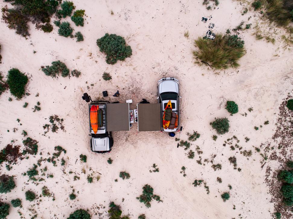 Blacksmiths Beach drone photography: Sunseekers