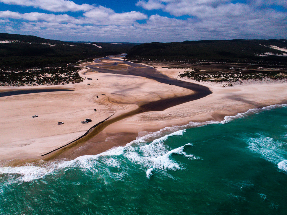 Blacksmiths Beach drone photography: Landscape