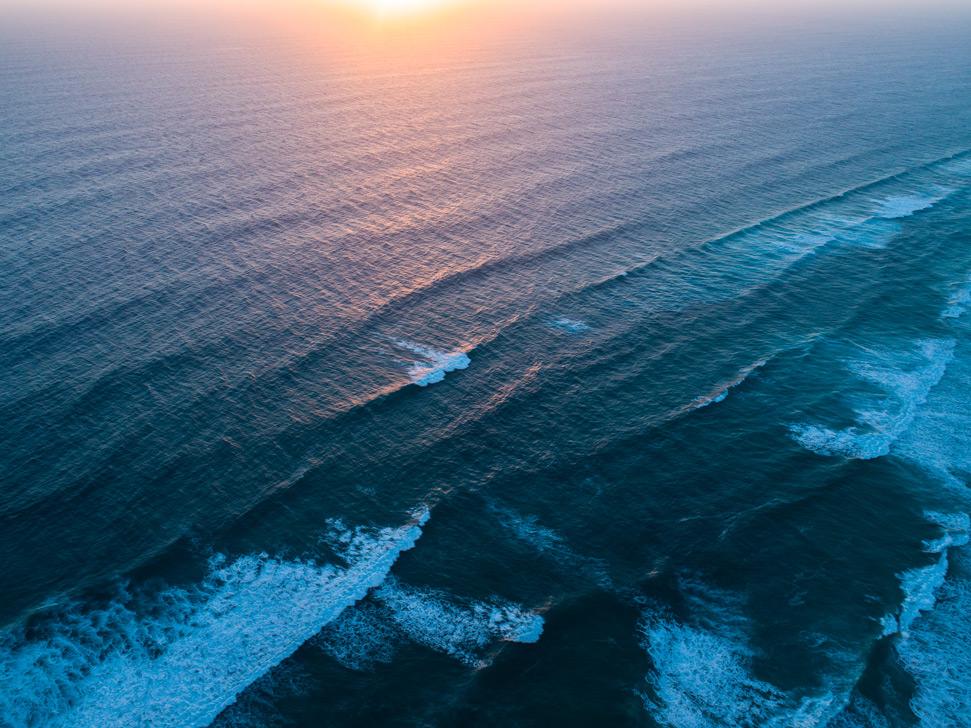 Blacksmiths Beach drone photography: Ocean Views